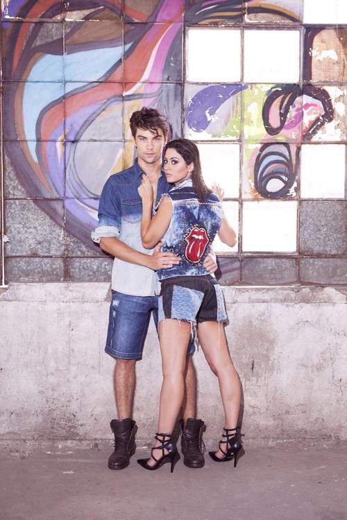 Carol Castro e Raphael Sander posam juntos para uma campanha de inverno
