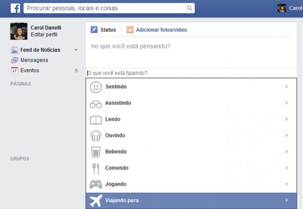 Em pleno feriad縊, Facebook quer saber para onde voc est viajando