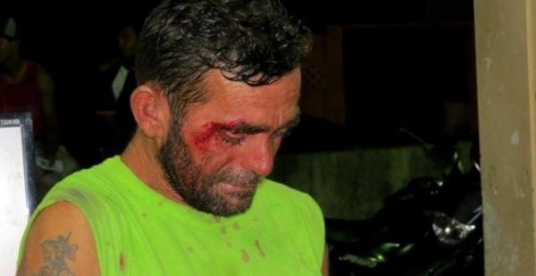 Homem é preso ao ameaçar de morte com uma faca um policial militar