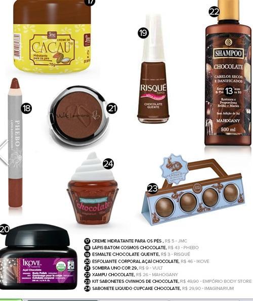 No clima da Páscoa, veja seleção de produtos de beleza com chocolate