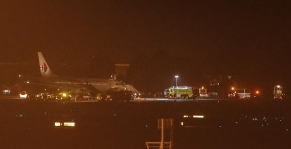 Avião de companhia de voo sumido faz pouso forçado após falha na decolagem