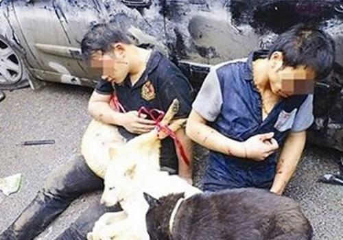 Homens são espancados por moradores após venderem carne de cachorro