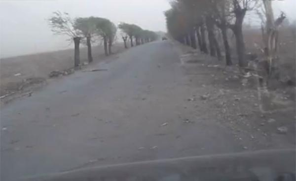 Motorista leva susto ap raio
