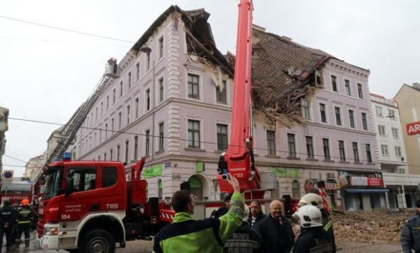 Explosão em prédio deixa feridos em Viena