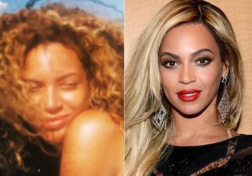 Beyoncé posta foto em que aparece de cara lavada e com cabelo natural