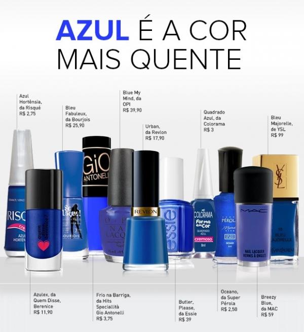 Esmalte azul de Giovanna Antonelli em