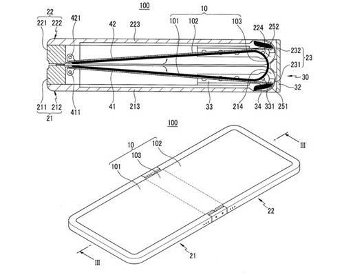 Samsung registra patente de dispositivo com tela dobrável