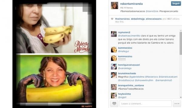 Banana pra dar e vender: famosos e f縱 fazem