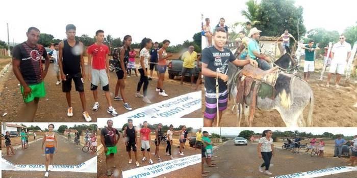 Maratonas e corridas de jumentos abriram  a programação do dia 28 em Canavieira