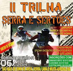 II TRILHA SERRA E SERTÕES será próximo domingo.