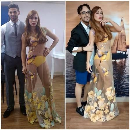 Val Marchiori detona vestido usado por ex-BBB Aline na final do programa: ?Pobrinho