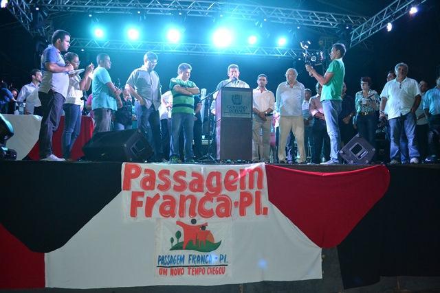 Zé Filho visita Passagem Franca no Piauí