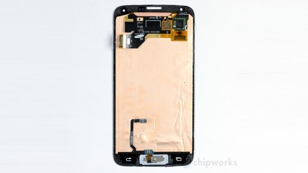 Desmonte do Samsung Galaxy S5: sensores de toque por todos os lados
