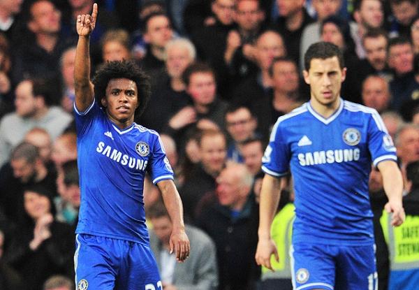William marca, Chelsea vence e reassume liderança no Inglês