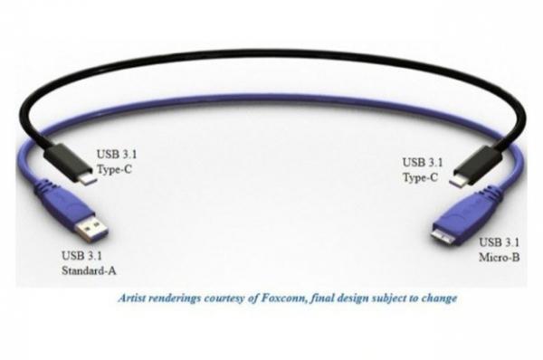Novos cabos USB revers咩eis poder縊 ser encaixados de qualquer lado