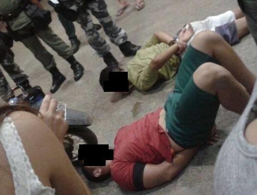 Polícia aborta assalto a posto de combustível e prende dois acusados