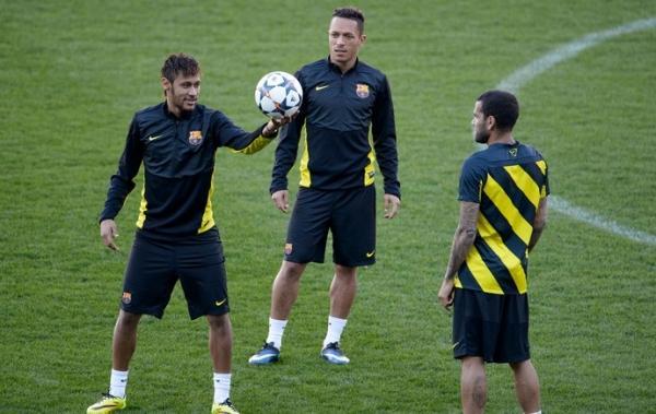 Barcelona se apoia nos bons n伹eros de Neymar e Messi contra o Atl騁ico