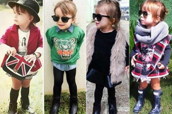 Mãe se inspira em famosas para criar looks para filha: