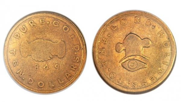 Moeda de ouro de 1849 é leiloada por R$ 1,5 milhão nos EUA