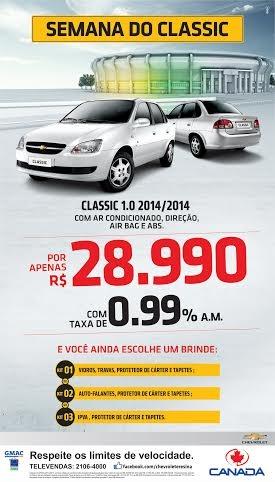 Canadá Veículos realiza a Semana do Classic, o sedan mais vendido do Brasil por apenas R$ 28.990,00