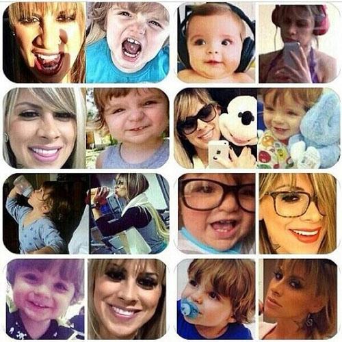 Ex-BBB Vanessa posta fotos com filho de Clara:
