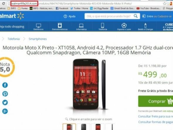 Página falsa do Walmart usa ofertas para roubar dados