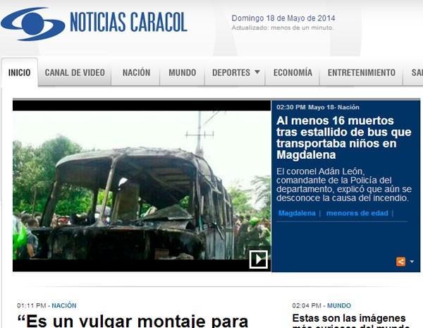 Acidente de ônibus mata pelo menos 15 pessoas na Colômbia