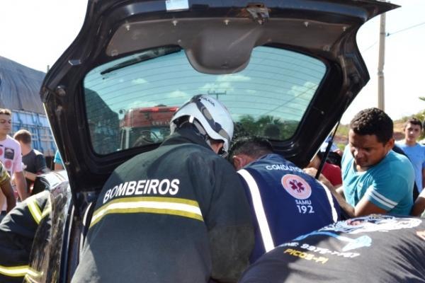 Ultrapassagem em local proibido, provocou grave acidente na BR-316
