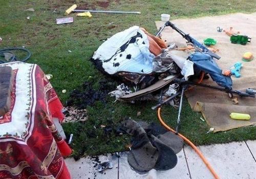 Bebê morre carbonizado em incêndio e polícia encontra garrafa de álcool na casa