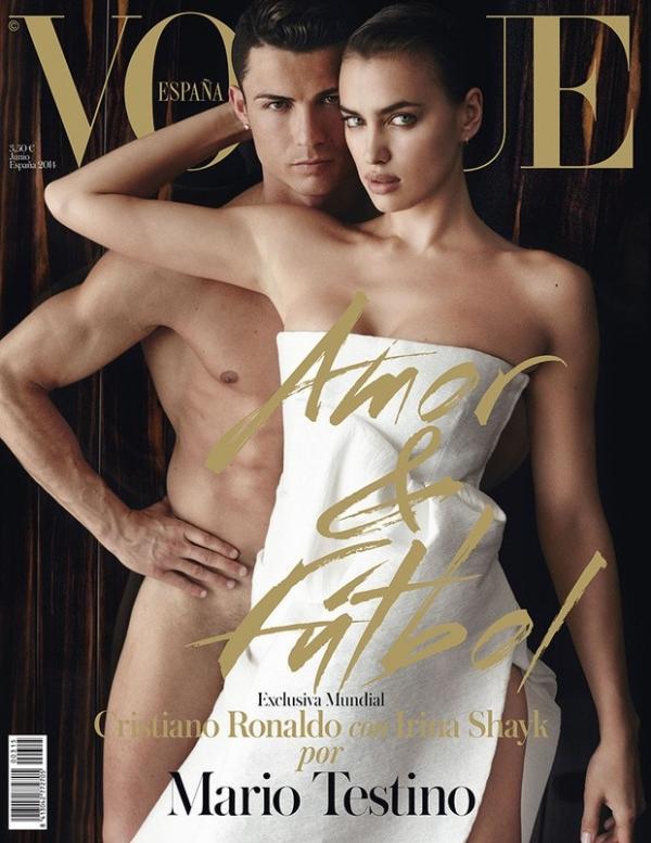 Cristiano Ronaldo posa nu para capa de revista ao lado da namorada