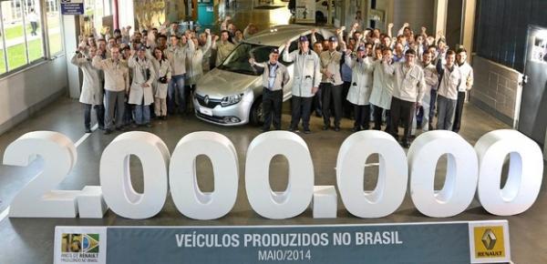 Renault comemora a produção de dois milhões de carros na fábrica de  São José dos Pinhais (PR)