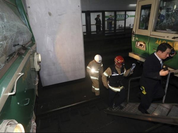 Choque entre trens do metr fere centenas na Coreia do Sul