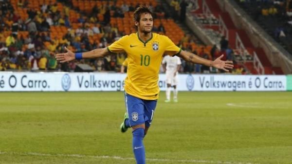 Neymar  o 22コ na lista dos goleadores das sele鋏es que jogar縊 a Copa