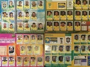 Colecionadores faturam grana extra vendendo álbuns completos da Copa