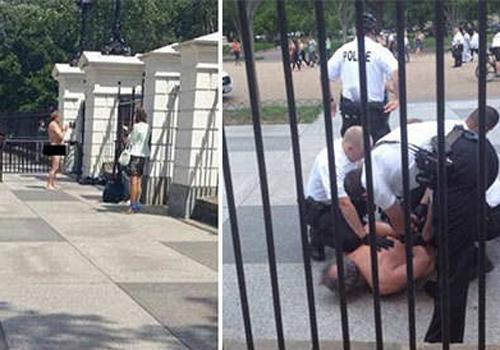 Homem fica nu em frente à Casa Branca