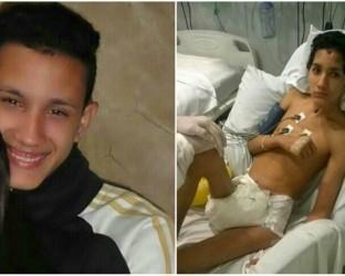 Jovem atingido por reboco recebe alta após dez meses internado, no Rio