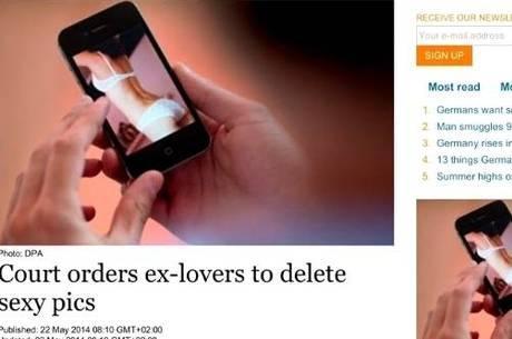 Tribunal ordena que homem destrua as fotos picantes da ex