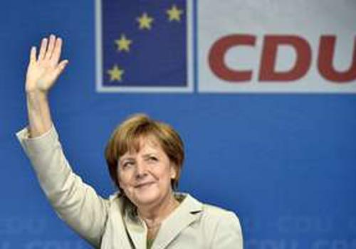 Boca de urna: partido de Merkel à frente em eleição europeia