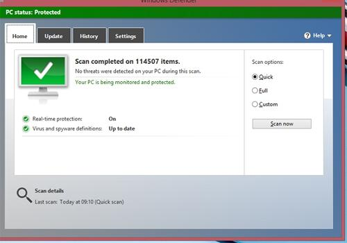 Como checar se computador est infectado por v叝us com Windows Defender