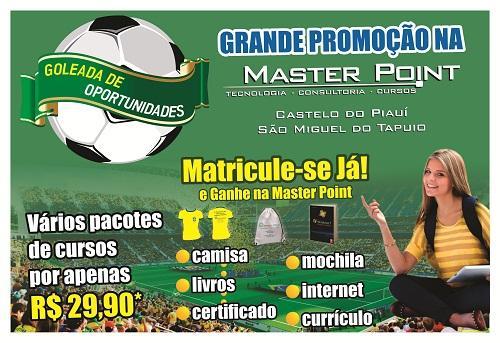 """Masterpoint Informática lança promoção """"Uma goleada de oportunidades"""""""