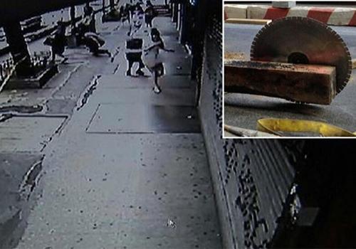 Serra voadora aterroriza pedestres ao se soltar de máquina nos EUA