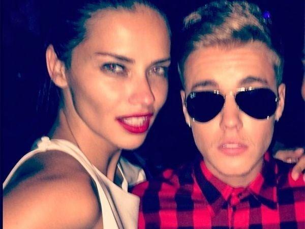 Justin Bieber e Adriana Lima teriam ficado em festa privê, diz revista