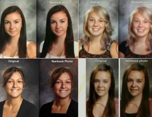 Escola manipula fotos e esconde decotes de alunas em anuário