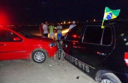Acidente entre dois veículos na orla de atalaia deixa uma criança ferida em Luis Correia.