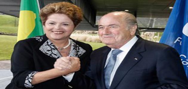 Dilma Rousseff se reunirá com presidente da Fifa  segunda-feira para receber taça da Copa do Mundo