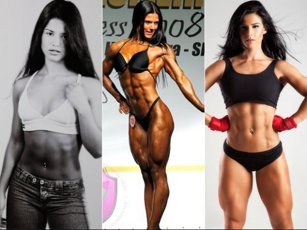 Musa fitness, Eva Andressa mostra antes e depois e alfineta Bella Falconi