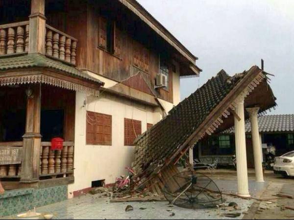 Tremor no norte da Tailândia mata ao menos um  e causa danos em aeroporto, edifícios e estradas