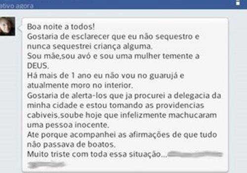 Outra mulher inocente teve foto postada em site do Guarujá