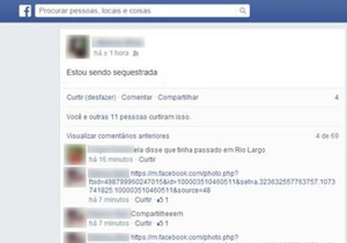 Vítima de estupro pede ajuda no Facebook e suspeito é preso após rastreamento