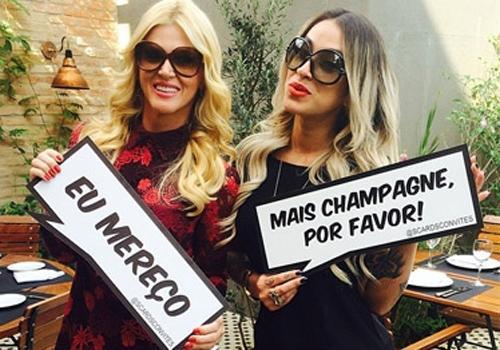 Val Marchiori convida Dani Bolina e outras amigas para sua despedida de solteira